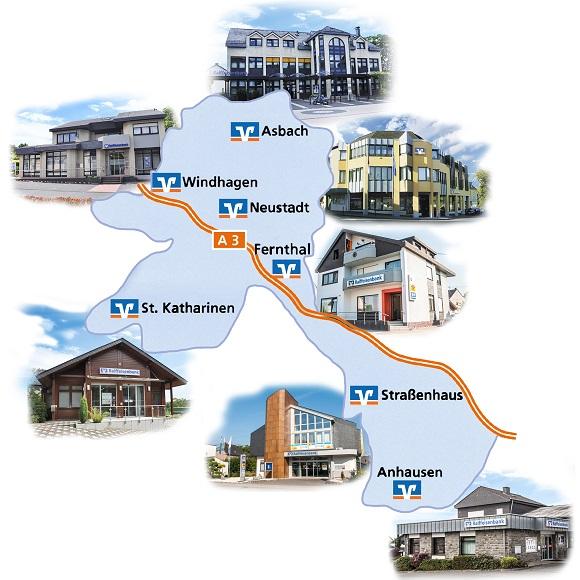 Karte Geschäftsgebiet