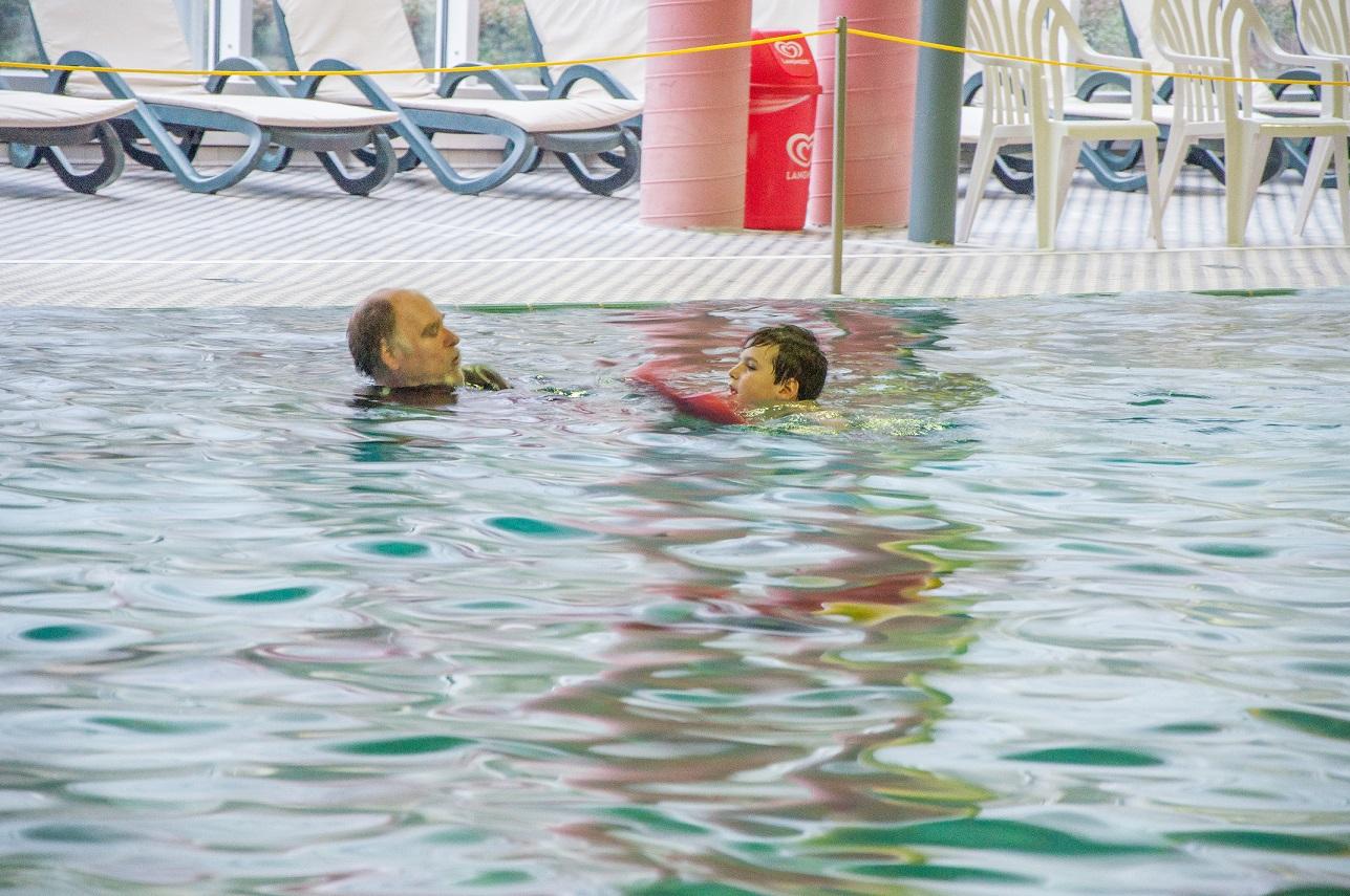 Schwimmen üben