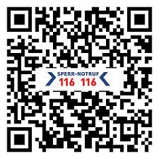 Sperr-Notruf App 116 116 für Apple